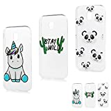 Coque pour Samsung Galaxy J3 2017 Silicone Housse Etui Protection Mince Souple Gel Case Cover TPU...