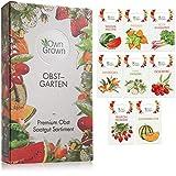 Obst Samen Set: Premium Garten Obst Saatgut mit 8 Sorten Obst Pflanzen für Garten und Balkon
