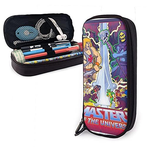 Welc My King Ma_Sters of The Uni-Verse Leder-Federmäppchen Federmappe Schreibwaren Tasche Büro Tragbare Aufbewahrungsbox Kosmetikbox Ordner