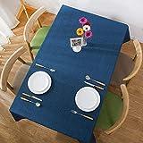 YDyun Mantel Antimanchas de Algodón y Lino Mantel para Mesa Resistente al Aceite Color sólido de Lino Impermeable Simple