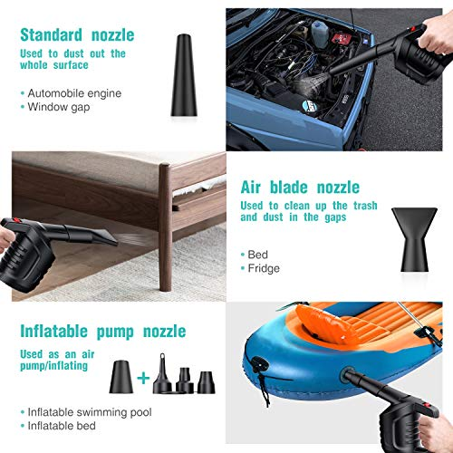 MECO(メコ)圧縮空気高圧エアダスターブロワーコンピュータークリーナーほこり/毛/パンくずのクリーニングにノートパソコン/キーボード/タワーファン/プリンターに缶入り圧縮空気の代用品
