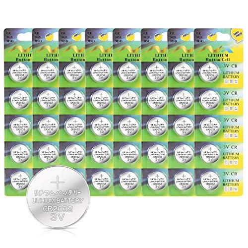 IDESION Batterien Electronics CR2032-3V 40er Pack Lithium Knopfzelle Batterie