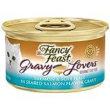 Purina Fancy Feast Gravy Wet Cat Food, Gravy Lovers Salmon & Sole Feast in Seared Salmon Flavor...
