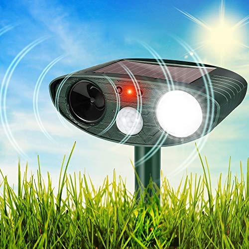 HOPSEM Cat Scarer Cat Repellent Ultrasonic Solar Powered Animal Deterrents...