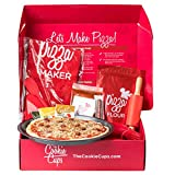 cc1 Children Cooking Set, Pizza Baking Kit, Includes Kid's Apron, Measuring Cup, Rolling Pin, Pan, Ingredients, and More. Perfect Home Activity, Great Gift for Kids 3 & Older - by The Cookie Cups