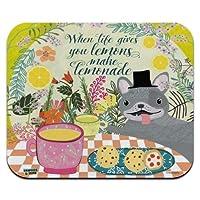 マウスマット、人生があなたにレモンを与えるとき、レモネード犬は薄型薄型マウスパッドを作る10 X 12インチマウスパッド、ゲーミングマウスパッド 18x22cm