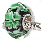 Plata de ley Andante-Stones{925} cristal de Murano bead (azul verde) element bola de European Beads + saquitos de