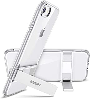 ESR Metal Kickstand Case for iPhone 8 Case [Vertical and Horizontal Stand] [Reinforced Drop Protection] Flexible Soft TPU for iPhone 8 (Jelly Clear)
