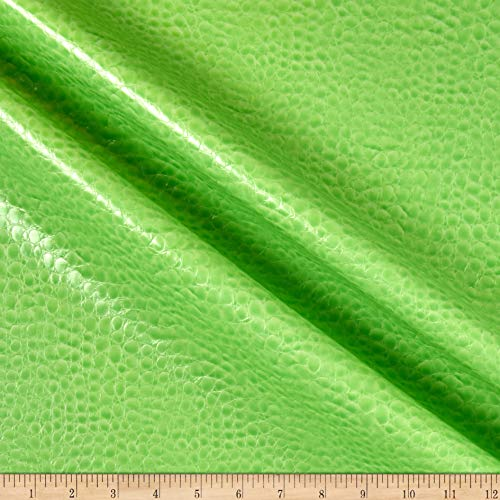 Non-Backed Crocodile Faux Leather Lime, Fabric by the Yard