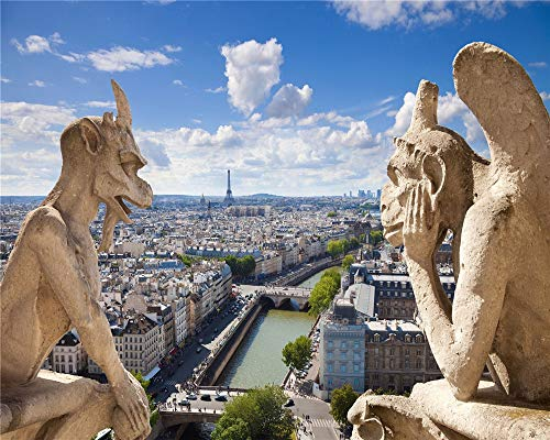 Aymsm 1000-teiliges Puzzle, Notre Dame de Paris, Wasserspeier, Brettspiel für Erwachsene