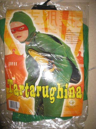 Fiori Paolo- Super Tartarughina Costume Bambino, Verde, S (3-4 anni), 61311.3-4