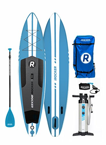 iROCKER Inflatable Sport Stand Up Paddle Board 11' Long 30' Wide 6'...