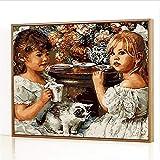 GJJHR DIY Pintura por Números Kits,Anna y Sally Pintada a Mano Pintura al óLeo Digital, DecoracióN del Hogar Regalo - 40x50cm(Sin Marco)