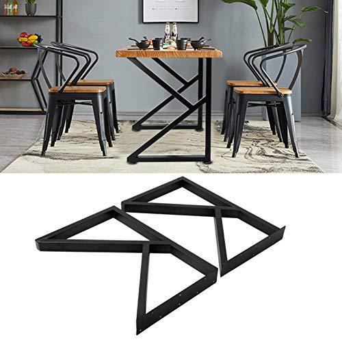 Wakects 2 patas de mesa de hierro forjado diseño, patas de metal para encimera Fai-da-Te para mesas de café, salón, 71 x 45 cm