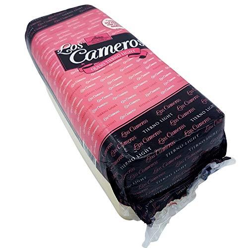 Queso de Vaca Tierno Light - Queso en Barra Los Cameros - Peso Aproximado 3.3 kilogramos - Queso Light Elaborado con Leche Pasteurizada de Vaca - Queso Light con todo el sabor de su origen.
