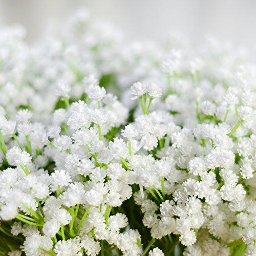 LianLe Kunstblumen Schleierkraut Blumenstrauß Dekorative Blumen Arrangement Tisch Hochzeit Party Deko