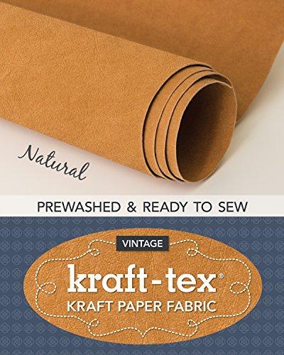 kraft-tex (R) Vintage Roll, Natural Prewashed: Kraft Paper Fabric (Kraft-Tex Vintage)