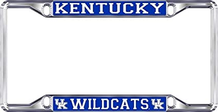 NCAA License Plate Frame Silver