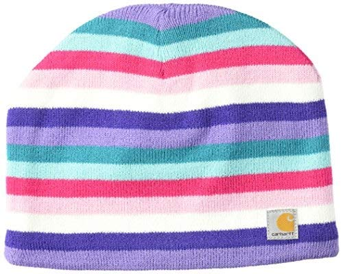 Carhartt girls Acrylic Watch Cold Weather Hat, Fleece Lined Multi-pink (Youth), One Size US