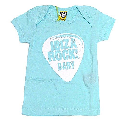 Ibiza Rocks: Camiseta Bebé Plectro - Verde Menta, 6-12 Meses