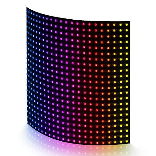 BTF-LIGHTING WS2812B 22x22 Matrix Panel insgesamt 484 Pixel Digital flexibel einzeln adressierbar Volle Traumfarbe Beleuchtung DC5V