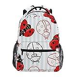 Mochila escolar RELEESSS Ladybug mochila escolar ligera mochila portátil para niños niñas niños unisex