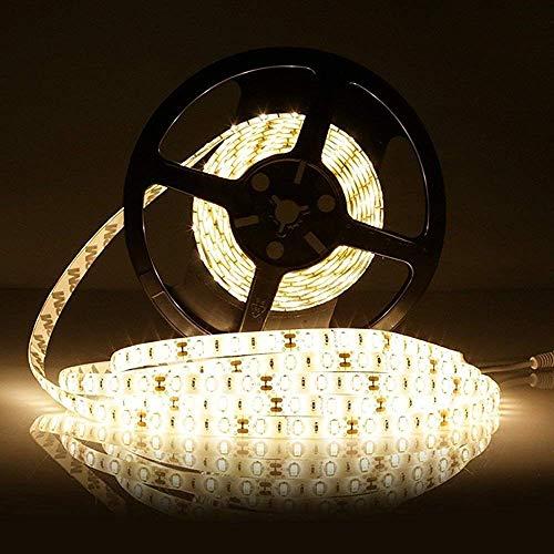 LEDMO SMD5630 LED Strip, 16.4Ft, 300LEDs Warm White 3000K, DC12V Waterproof IP65, 25LM/LED, 2 Times Brightness Than SMD5050 LED Light Strip, LED Strip Light