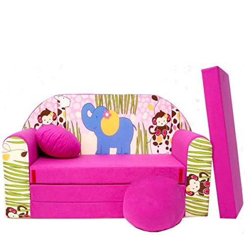 H16 + enfants Canapé ausklapp Bar Canapé-lit canapé Mini Basse 3 en 1 Ensemble pour bébé + Fauteuil pour enfant et coussin d'assise + matelas