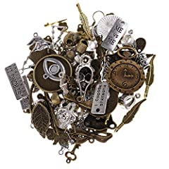P Prettyia 100 Gram DIY Assorted Color Antique Metal Steampunk Charms Pendant for Crafting, Cosplay Decoration,Jewelry Making Accessories #5