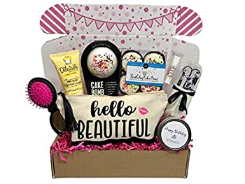 Women's Birthday Gift Box Set 8 Unique Surprise Gifts For Wife Aunt Mom Girlfriend Sister from Hey It s Your Day Gift Box Co.