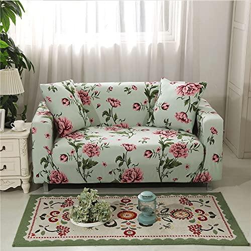 ASCV Funda de sofá para Sala de Estar Elasticidad Antideslizante Funda de sofá Universal Spandex Funda para sofá elástico A8 2 plazas