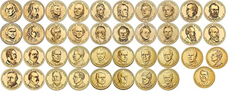 2007 D 2007-2020 40 Coin Presidential Dollar Complete Set Uncirculated