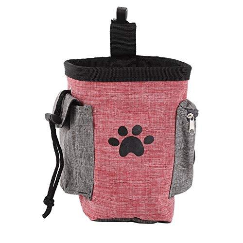 weichuang Die Kleidung für Haustiere Dog Treat Pouch Pet Hands Free Gehtraining Tasche Hunde im Freien beweglichen Rucksack-Fördermaschine Snacks Litter Bag Hüfttasche 1pcs Kleider (Color : R)