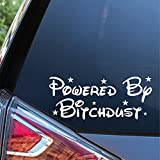 Sunset Graphics & Decals Powered by Bitchdust Decal Vinyl Car Sticker   Cars Trucks Vans Walls Laptop Computer   White   7.5 inches   SGD000181