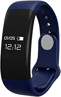 Rastreadores de Ejercicios con Monitor cardíaco, Brazalete Inteligente Control de sueño Paso Impermeable Deportes Bluetooth Health Watch, iOS Android