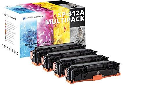 4 Schneider Printware Toner (25 Prozent mehr DRUCKLEISTUNG) kompatibel zu CF380X CF380A CF381A CF382A CF383A HP 312A für HP Color Laserjet Pro M476dw MFP M476dn Pro MFP 476nw M476dw MFP MFP 476dn