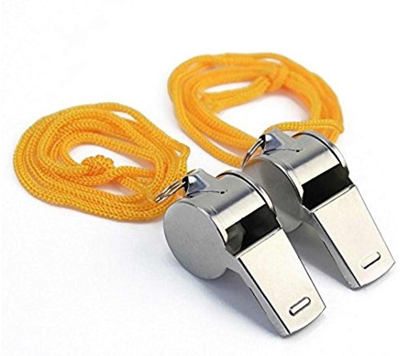 驚くばかり入場種をまくTAKIの部屋 ホイッスル ロープ付き スポーツ アウトドア アクセサリー 競技備品 審判用品 安全対策 サバイバル ヘミングアイアン 2pcs