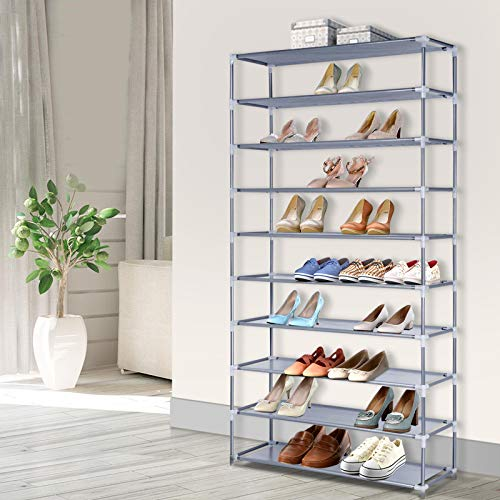 Artiss 10-Tier 50 Pairs Shoe Storage Chest Shelf Rack
