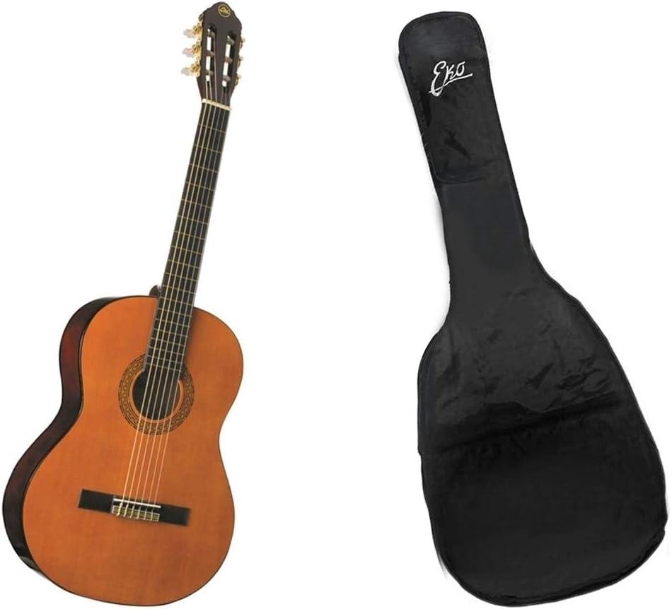 Eko CS-10 Natural Cuerpo de 39 pulgadas Escala 650 mm Guitarra clásica 4/4 con funda Rockbag