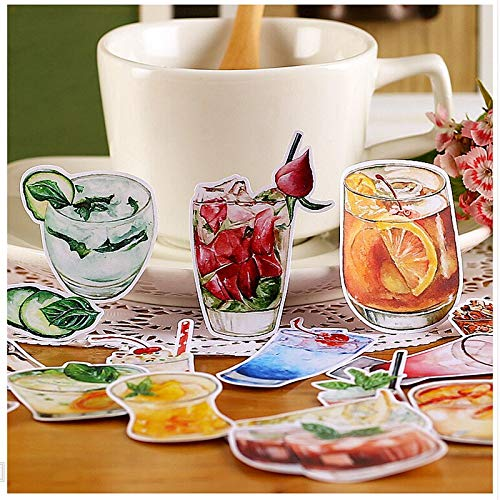 YRBB 32 Stks Creatieve Leuke Zelfgemaakte Dagelijks Voedsel/Drinken Scrapbooking Stickers/Decoratieve Sticker/Diy Craft Fotoalbums/Trunk Stickes