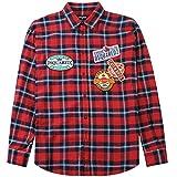 DSQUARED2 dsq2 Etiqueta patrón Camisa Red Large