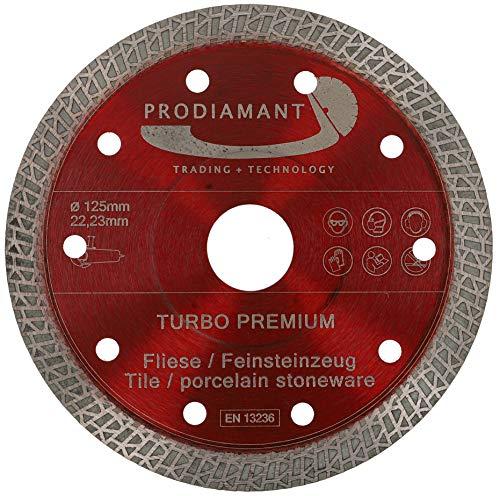 PRODIAMANT Disco de corte de diamante para azulejos y gres porcelánico, 125 x 22,23 mm, 125 mm, para amoladora angular