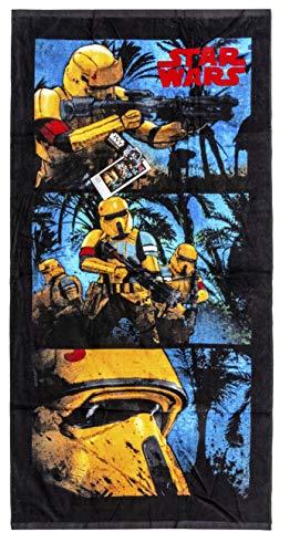 Toallas de 140x70cm de Star Wars, toallas de playa, toallas de baño hechas de algodón 100%, varios diseños con motivos de películas conocidos, para niños (Stormtropper)