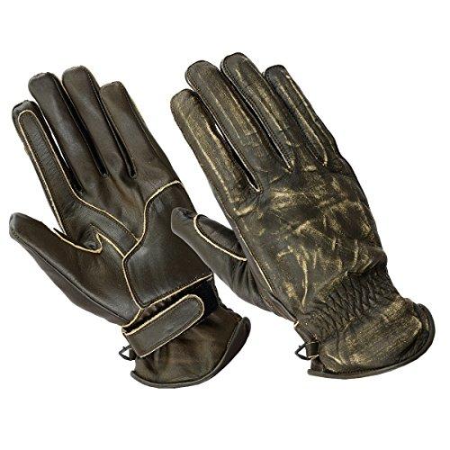 Motorrad Handschuhen Racing Kevlar gewachst Leder Handschuhe Wachs (XL, Braun)