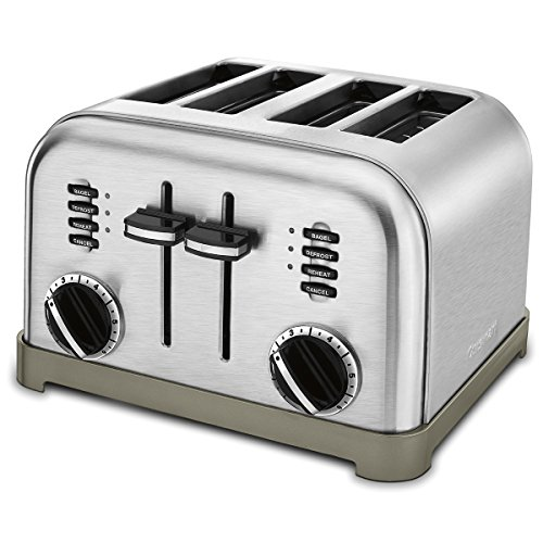 Our #1 Pick is the Cuisinart CPT-180 Metal Classic 4-Slice Toaster