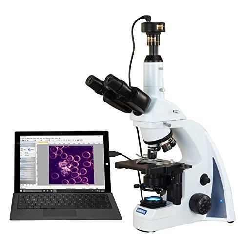 OMAX 40X-2500X 10MP USB Plan Infinity Darkfield Trinocular Siedentopf LED Lab Compound Microscope