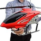 Liiokiy RC Helicopter 2.4GHz Gran helicóptero al aire libre RC DRONE Juguete para niños USB Cargando 3.5 Canales Regalos de cumpleaños de Navidad para niños y adultos Regalos Infrarrojos Inversión Pla