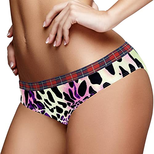 Stretch Ladies Underwear Bragas Hipster Bragas S Rayas Leopardo Bikini Panty, multicolor, S