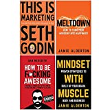 This is Marketing You Can€™t Be Seen Until You Learn To See, Meltdown How to turn your hardship into happiness, How To Be F*cking Awesome, Mindset With Muscle 4 Books Collection Set