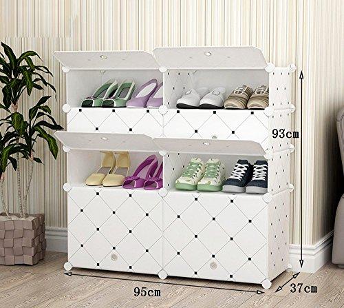 Chaussure Fashion Creative Multi-Couche résistant à la poussière résine Plastique Montage Rack, Simple Multifonction dortoir ménage Shoe Cabinet (Taille : 95 * 37 * 129cm)